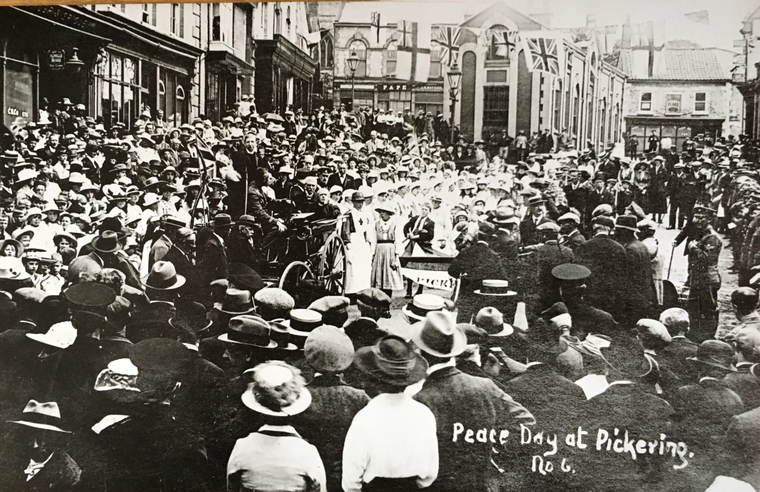 Nurses in procession at Peace Day Parade in Pickering 1919