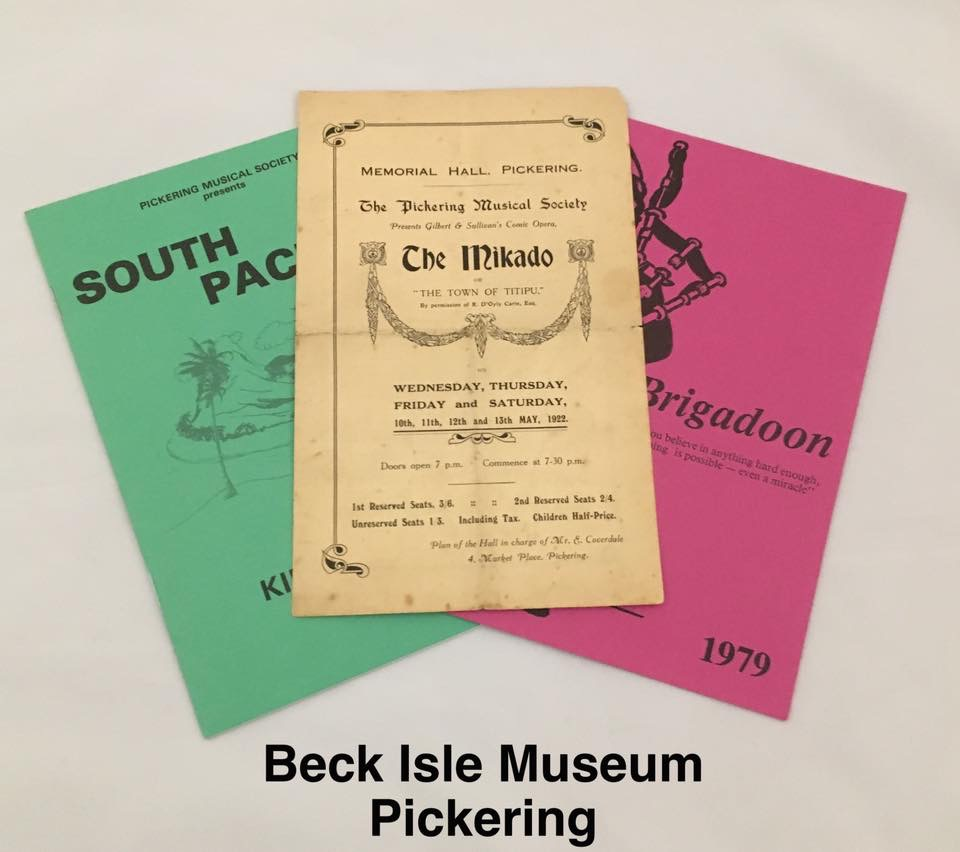 Image of programmes from Pickering Musical Society